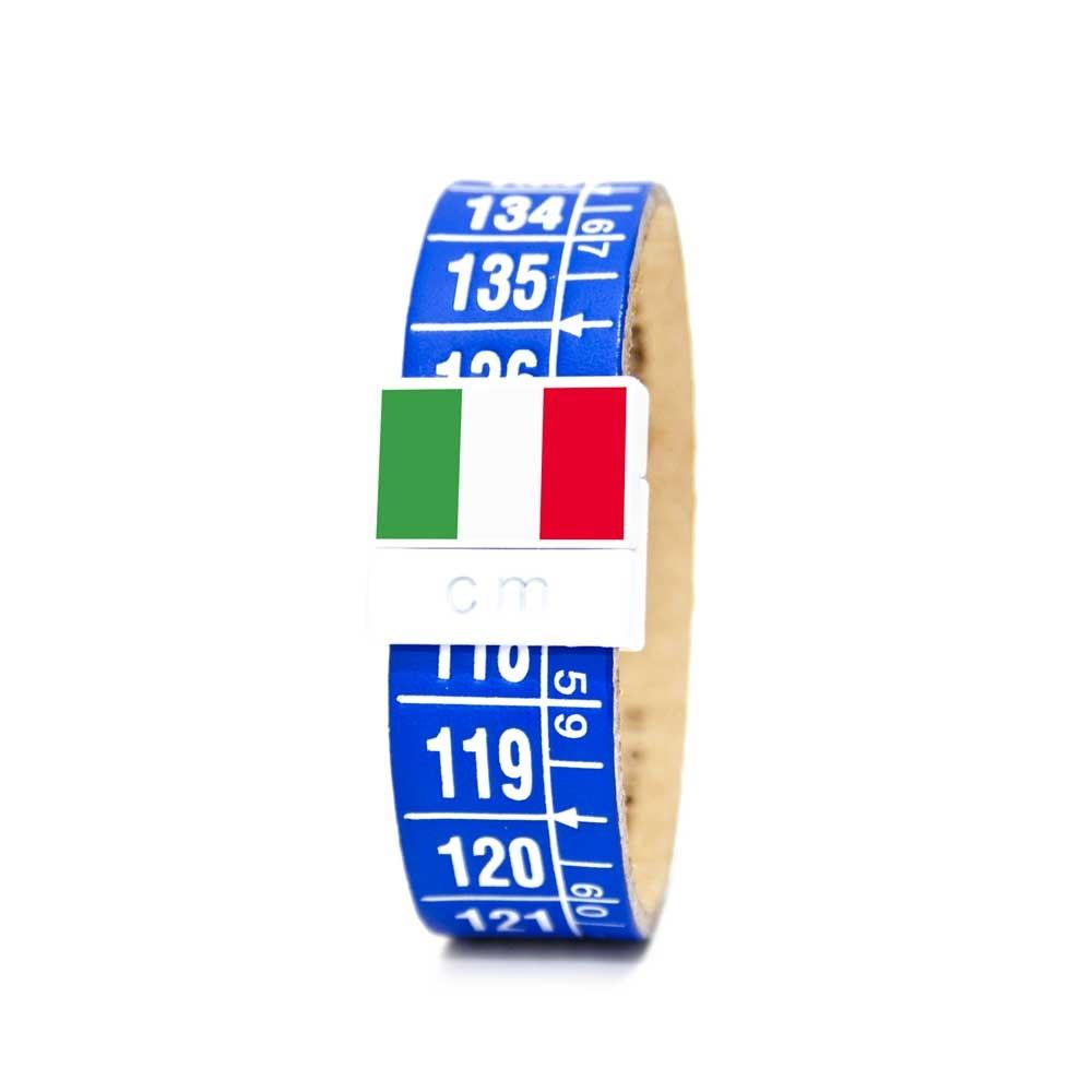 Bracciale in pelle Italia azzurri