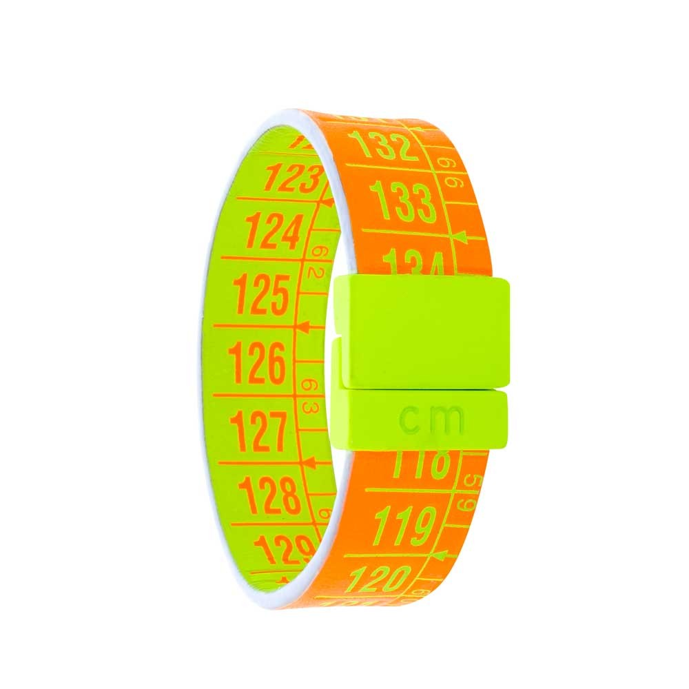 Bracciale in pelle double color Fluo