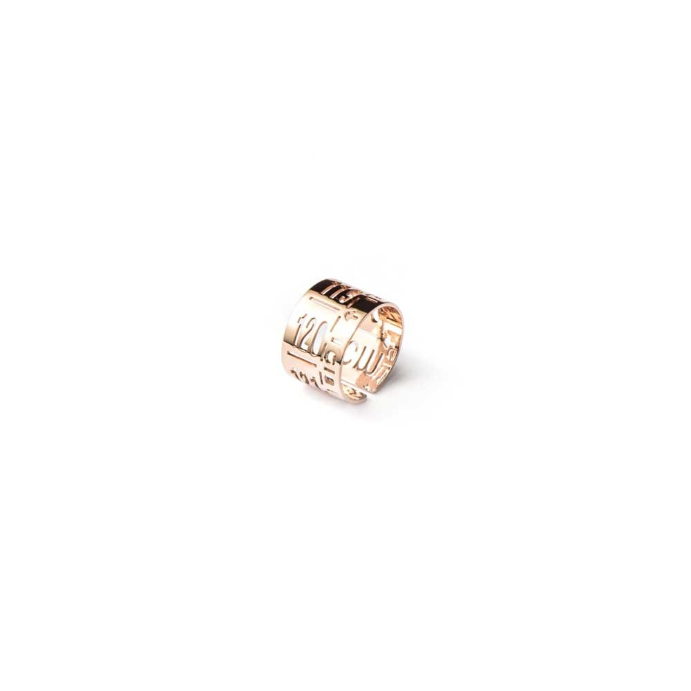 Anello in metallo  J-Ring Rose Gold