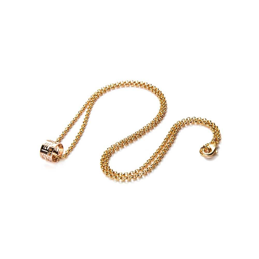 Collana con ciondolo J-Lace oro rosa