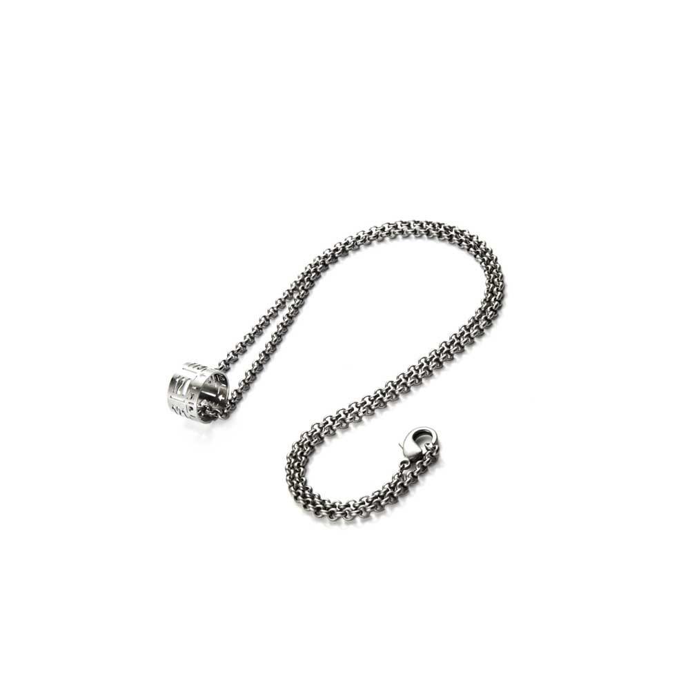 Collana con ciondolo J-Lace steel