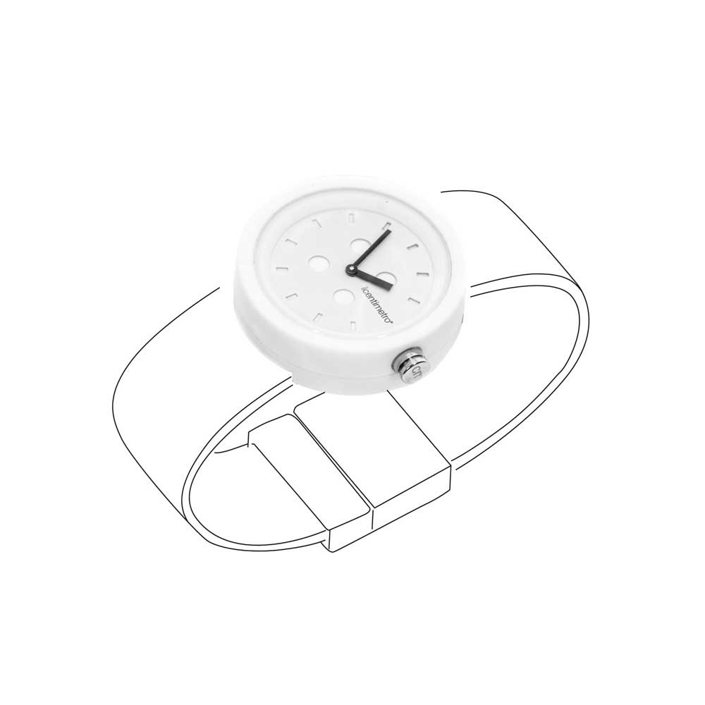 Orologio TimePlug Total White