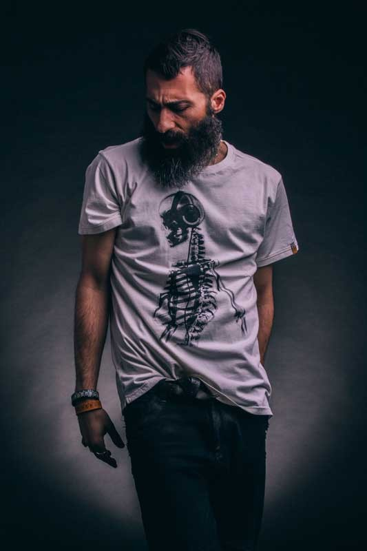 T-shirt uomo Skeleton White