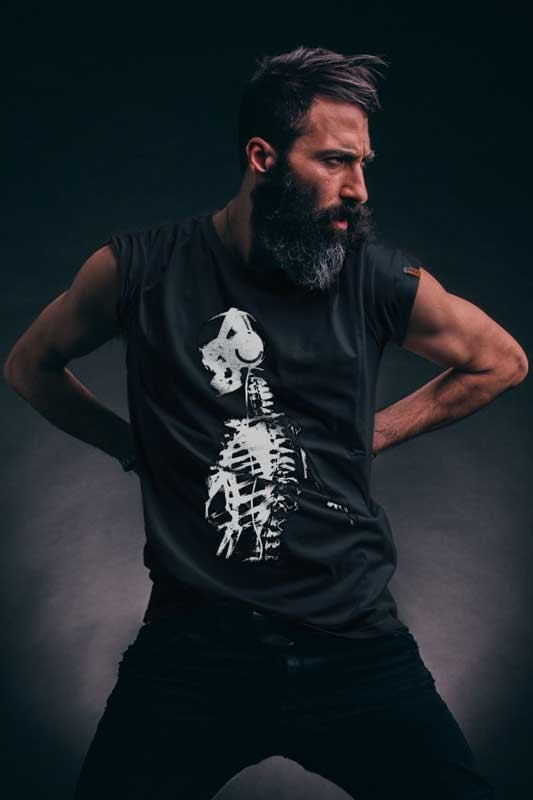 T-shirt Skeleton Black