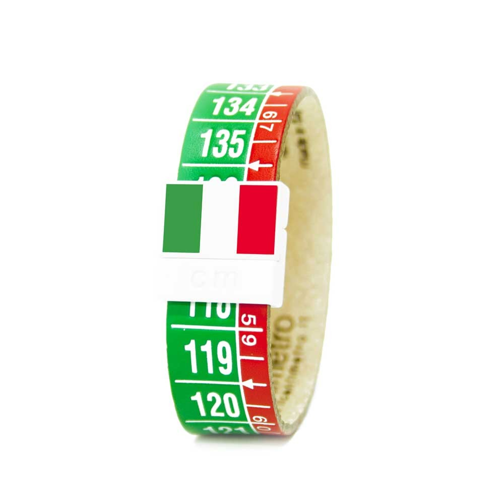 Bracciale in pelle Italia Tricolore